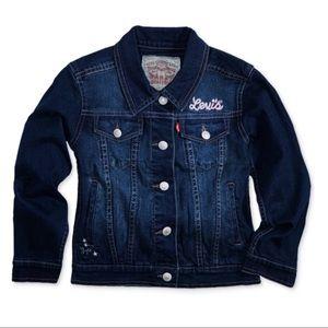 Levi's Embroidered Trucker Denim Jacket XS 4